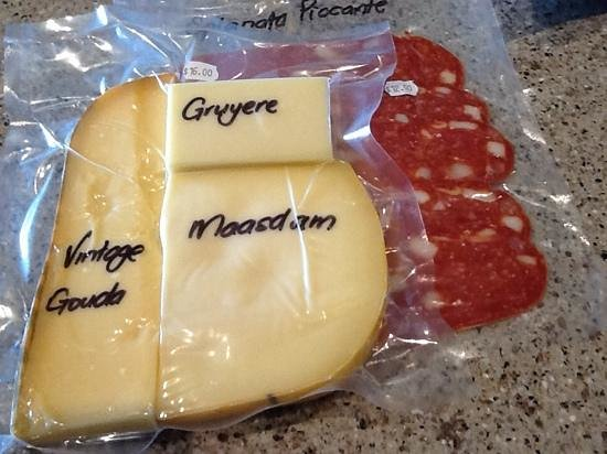 Salute Taupo Cafe & Deli: $16 for a little plastic pre-wrapped cheese, $12 for smidge of salami