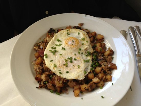 Good: Pork Belly Hash and Eggs