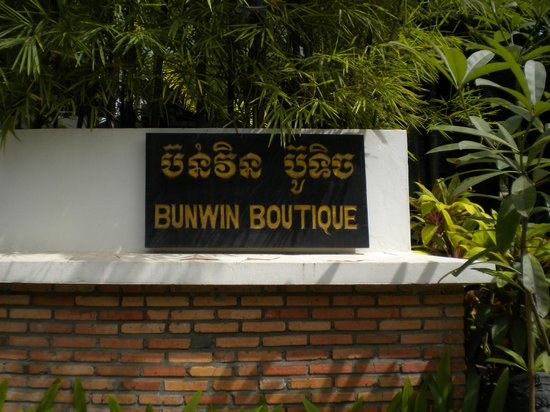 Bunwin Boutique Hotel: sign of hotel