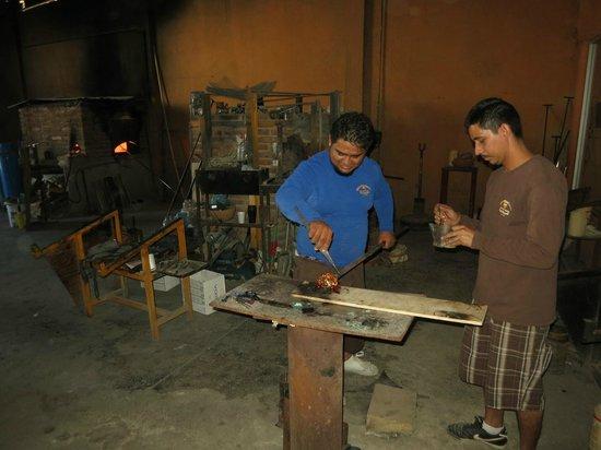 Barcelo Gran Faro Los Cabos : Visite d'un atelier de verre soufler à Cabo San Lucas