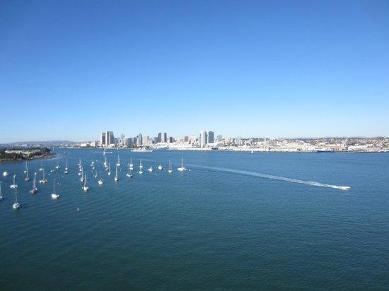 Old Town Trolley Tours of San Diego: Going over Coronado Bridge!!