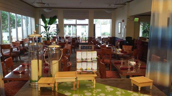 Hilton Garden Inn Ft. Lauderdale SW/Miramar : lobby dining area