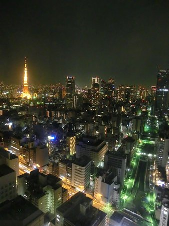 Park Hotel Tokyo: Night view from the room (upgrade)
