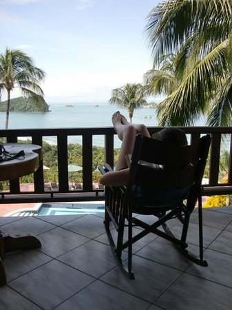 Hotel Costa Verde: Kicking back on the balcony