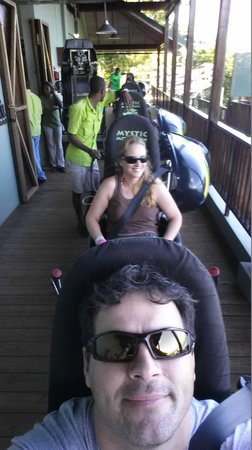 Rainforest Adventures Jamaica : Ready for bobsled run