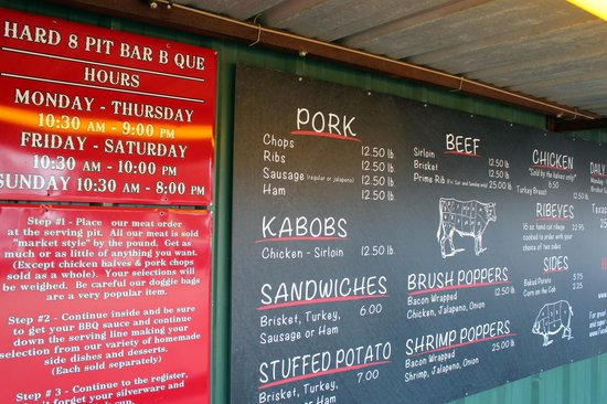 Hard Eight BBQ - The Menu