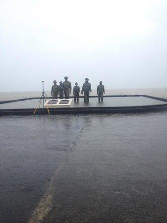 Leyte Landing Memorial: pouring rain