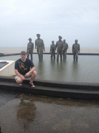 Leyte Landing Memorial: a veteran