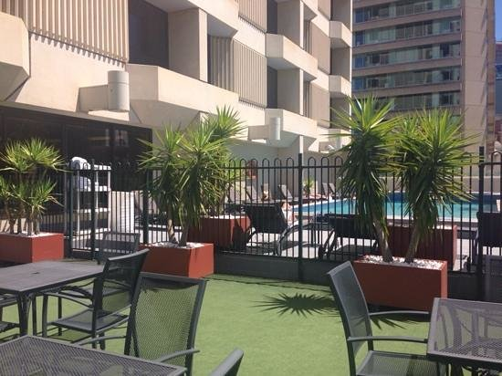 Hilton Adelaide: pool - really sunny until 2pm, provides shade afterwards