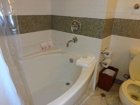 Sandals Halcyon Beach Resort: deep tub