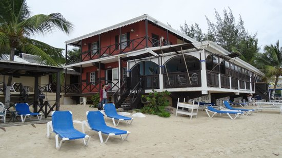 Mary's Boon Beach Resort and Spa: the main building with restaurant and reception and som erooms