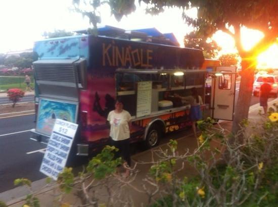 Kinaole Grill Food Truck : the truck is just off of S Kihei road.