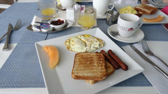Mary's Boon Beach Hotel and Spa: breakfast. about 15USD