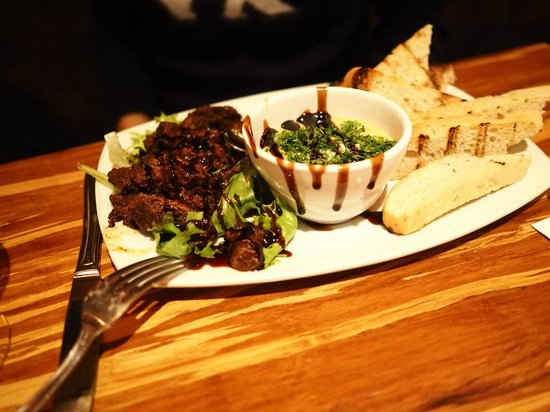 Twigs Bistro and Martini Bar: Moroccan beef appetizer - much too salty
