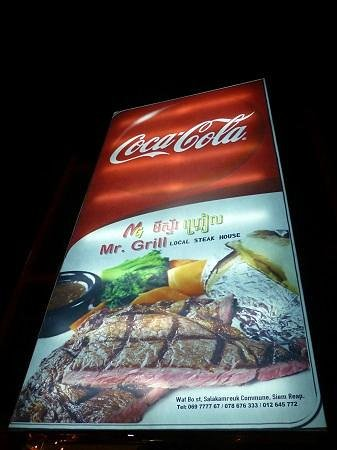 Mr Grill Restaurant: 看板