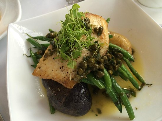Cafe Frick: Cobia over heirloom potatoes and green beans with lemon caper sauce