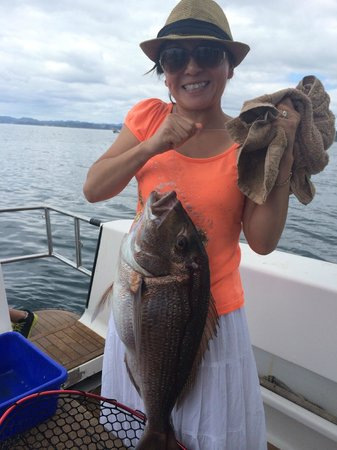 Get Reel Charters: Lydia with the biggest snapper