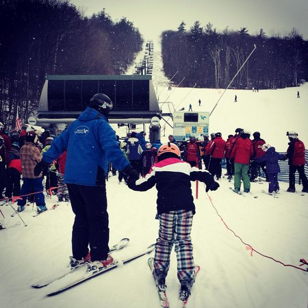Mount Sunapee State Park and Ski Area: With her amazing instructor!!!!