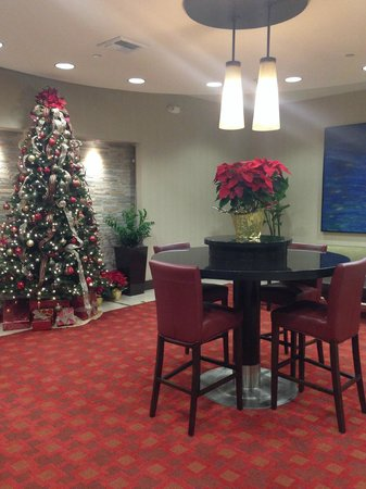Red Lion Hotel Anaheim Resort: Christmas decorations at reception