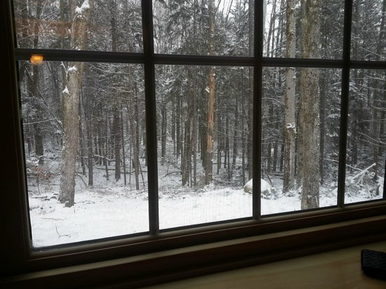 Robert Frost Mountain Cabins : View from the nook window