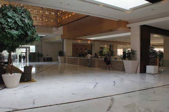 The Grand New Delhi: Reception area
