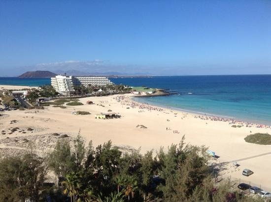 ClubHotel Riu Oliva Beach Resort : view of tres islas and lobos from oliva beach