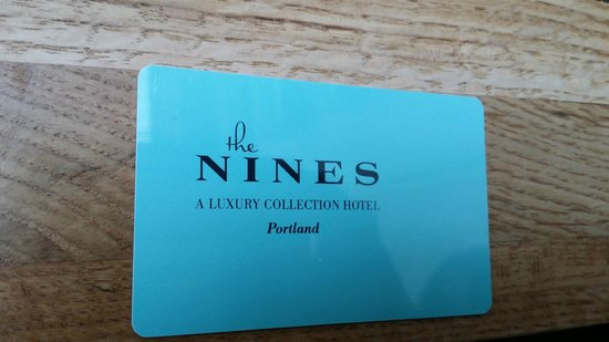 The Nines, a Luxury Collection Hotel, Portland : Room key