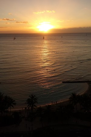 The Residences at Waikiki Beach Tower : I usually hate it when people post pictures NOT of the hotel, but this was our view...