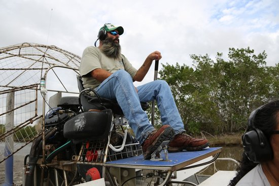 Ochopee, FL: JR aux commandes de son airboat