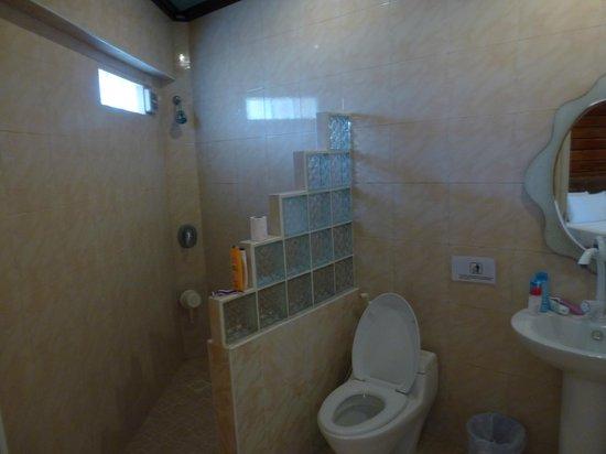 Dumaluan Beach Resort: Dusche,WC,Waschbecken