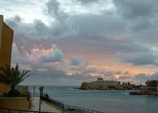 Marina Hotel Corinthia Beach Resort: View from the room