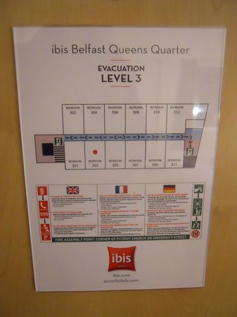 Ibis Belfast Queens Quarter: Not many bedrooms on this floor