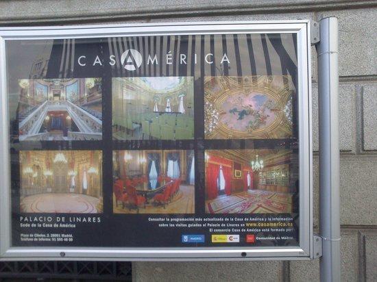 Casa de America: Plano del Palacio