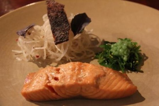 The Green Shed: Poached ponzu salmon