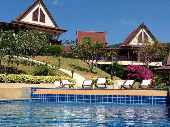 Baan KanTiang See Villa Resort (2 bedroom villas) : View from pool.