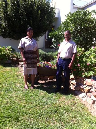 Roberto and Gina - staff at Peace Valley Guesthouse - Napier