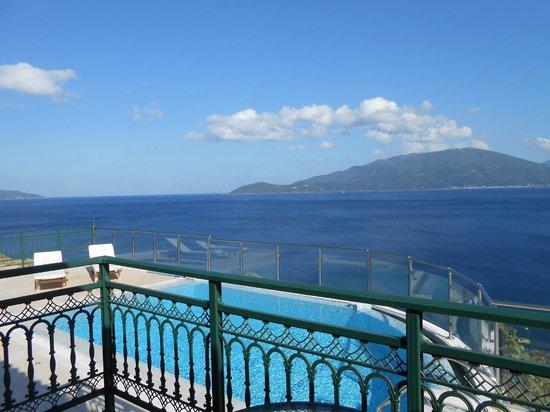 Kefalonia Bay Palace: view from villa pool