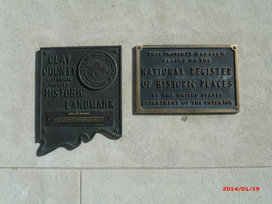 Hall of Waters Visitors Center: Excelsior Springs MO Hall of Waters Historic Plaques