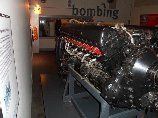 Imperial War Museum North: Rolls Royce Merlin mark 73 aero engine