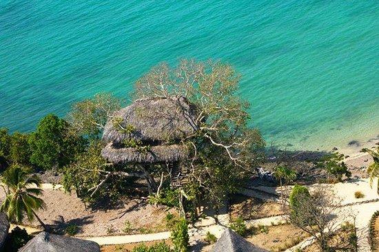 Sangany Lodge: vue aérienne du bungalow dans l'arbre