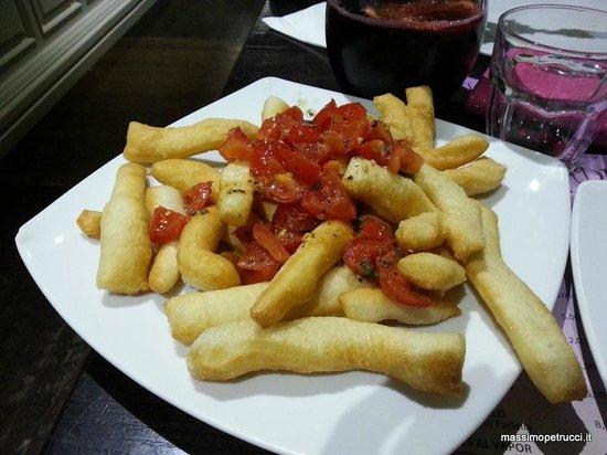 El Rincon de Goya Madrid Capital: Pierdetiempo - Straccetti di pizza fritta con pomodoro
