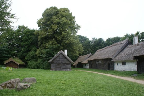 The Open Air Museum : Frilandsmuseet petit village rural de maisons en bois