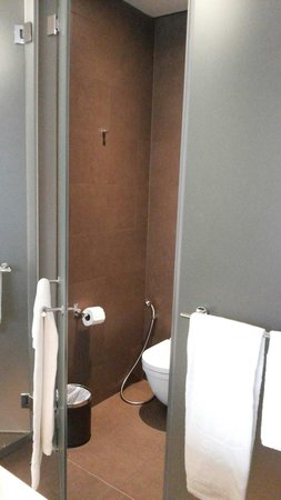 Park Regis Singapore: Side by side bathroom with showers and toilet