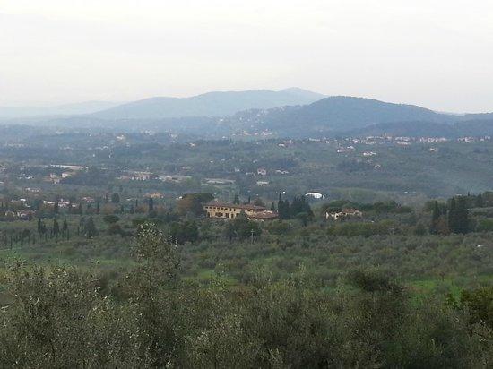 Villa Sestini: vue de la chambre
