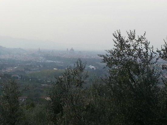 Villa Sestini: vue sur le Duomo depuis notre chambre