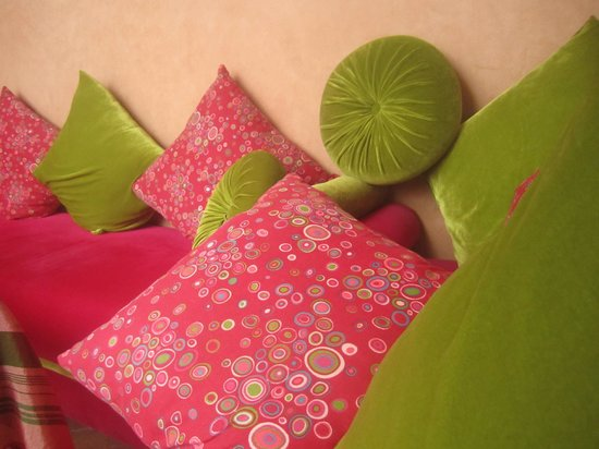 Riad Slawi: Pillows in the sitting room downstairs