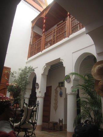 Riad Slawi courtyard from the sitting room