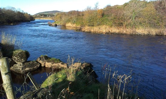 Pine Trees Lodge: Good fly water East Mayo Anglers