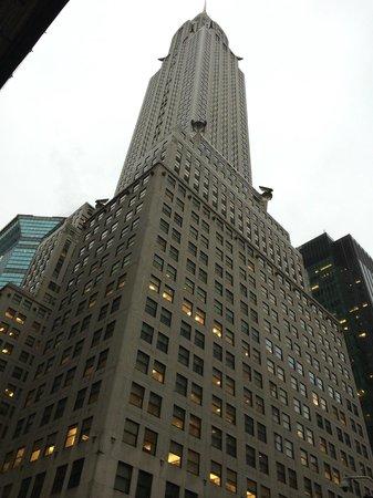 Chrysler Building: Vista dal basso