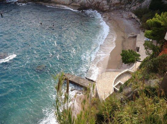 Hotel Bellevue Dubrovnik : プライベートビーチ